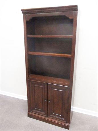 DARK WOOD BOOKCASE BY WHALEN