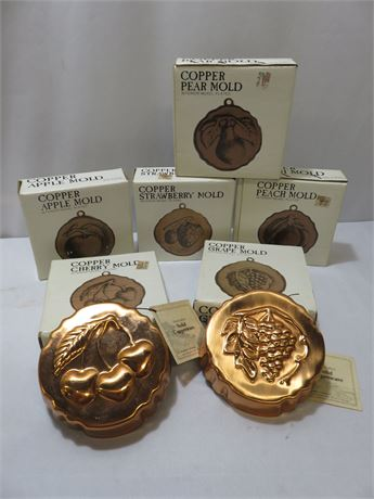 6-Piece Decorative Copper Mold Lot
