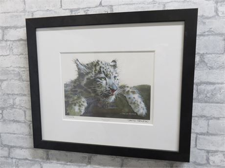 "DAVID RANKIN ""Baby Snow Leopard"" Limited Edition Lithograph Print (Signed)"