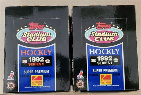 1992 Topps Stadium Club Series 1&2 Hockey Wax Boxes w/ Factory Sealed Packs