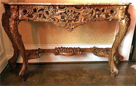 Toscano Hapsburg Marble Topped Console Table