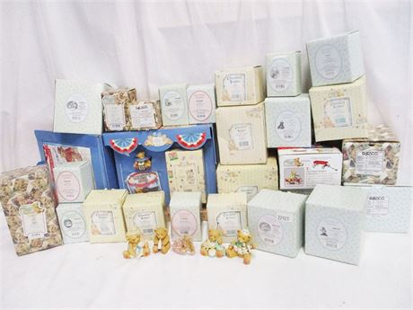 LOT OF MORE THAN 30 BABY-THEMED CHERISHED TEDDIES