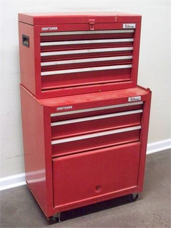 SEARS CRAFTSMAN - HOME TOOL STORAGE - TOOL CHEST WITH MISC. TOOLS