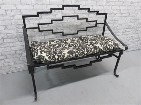 Rustic Wrought Iron Bench