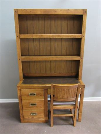 Young Hinkle Passport Desk with Hutch and Chair