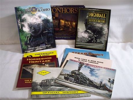 9 TRAIN/LOCOMOTIVE BOOKS