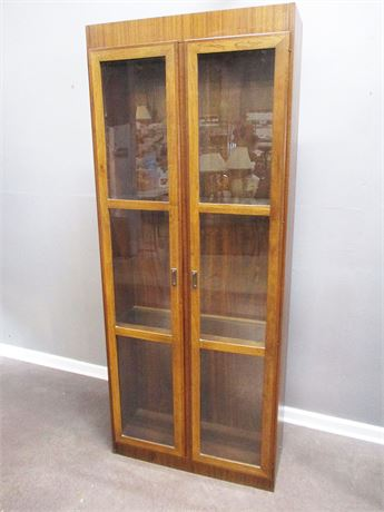 VERY NICE BOOKCASE WITH GLASS DOORS