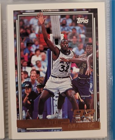 SHAQUILLE O'NEAL ROOKIE & 1992-93 TOPPS GOLD SERIES 2 COMPLETE SET IN BINDER