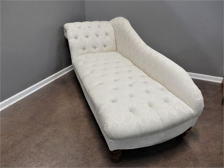 Upholstered Cream Color Chaise