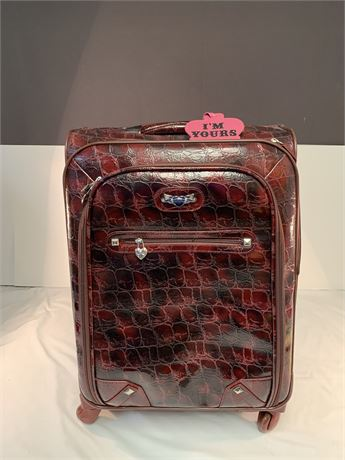 Kathy Van Zeeland Luggage Croco PVC Designer