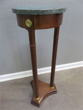 Marble Top Pedestal Stand