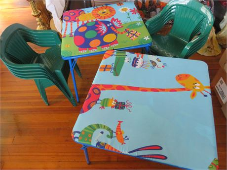 DELTA CHILDREN'S Folding Tables & 10 Chairs