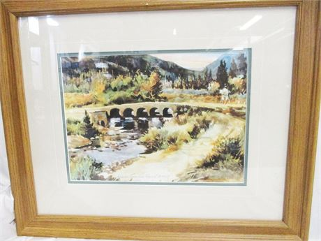 """""""NEVER SUMMER RANCH"""" RMNP BY RALEIGH KINNEY #2/200 - SIGNED"""