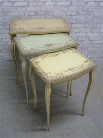 VINTAGE FRENCH PROVINCIAL NESTING TABLES