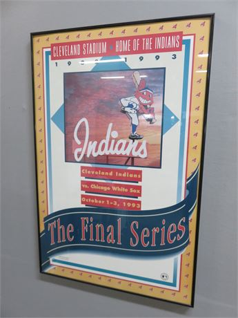 """Cleveland Indians """"The Final Series"""" Limited Edition Framed Poster Print"""