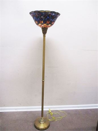ANOTHER TIFFANY-STYLE FLOOR LAMP