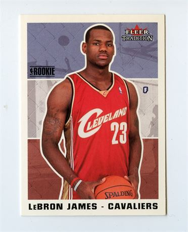 LEBRON JAMES ROOKIE CARD 2003-04 FLEER TRADITION