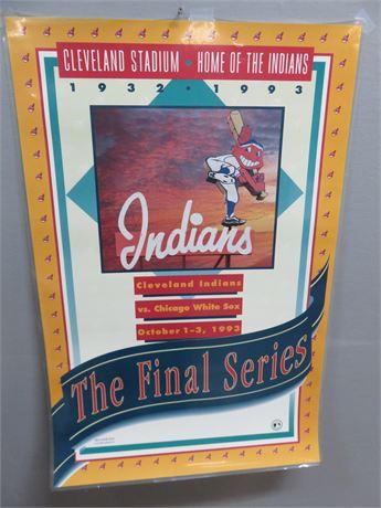 Cleveland Municipal Stadium Indians Final Series Commemorative Poster