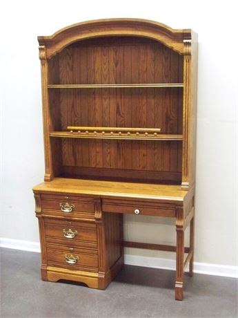 LEXINGTON FURNITURE RECOLLECTIONS OAK DESK WITH HUTCH
