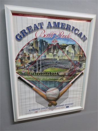 2003 CINCINNATI REDS Great American Ball Park Opening Day Poster