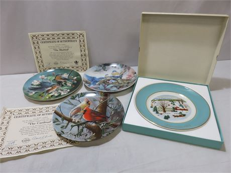 4-Piece Limited Edition Collector Plate Lot