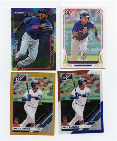 JOSE RAMIREZ ROOKIE LOT AND SERIAL NUMBERED REFRACTORS