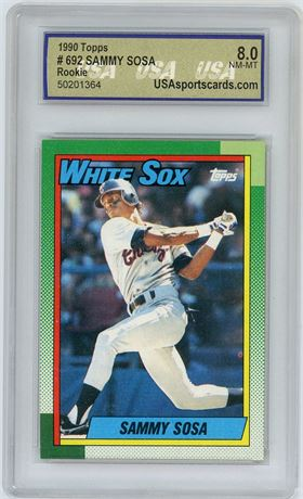 1990 Topps Sammy Sosa Rookie Card USA NM-MT 8.0