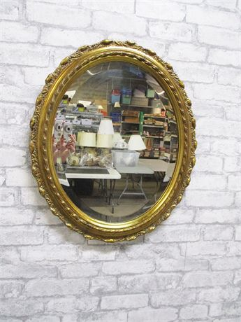GOLD-EDGED BEVELED MIRROR