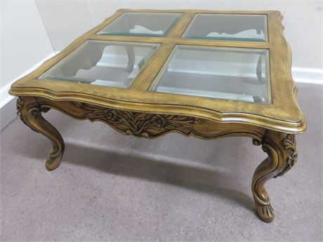 French Provincial Oak Coffee Table