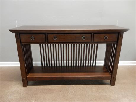 American Signature Dark Wood Console Table
