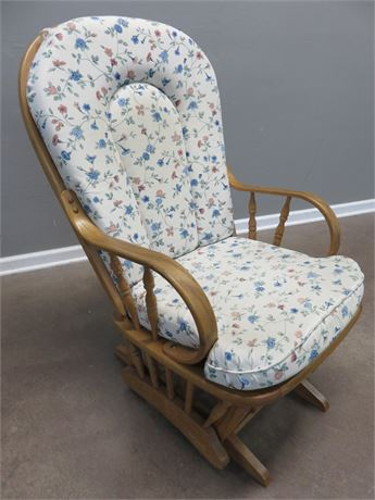 DUTAILIER Oak Glider Chair