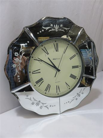 Skytimer Mirrored Wall Clock