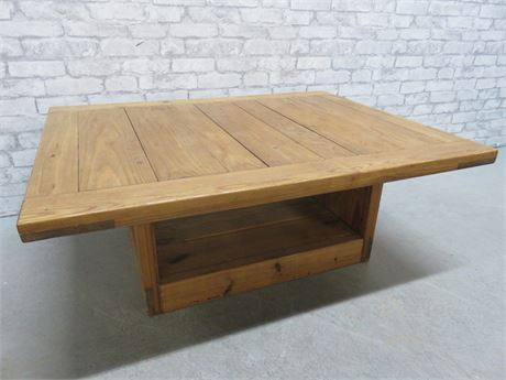 THIS END UP Solid Pine Coffee Table