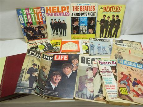 Vintage Beatles Ephemeral Memorabilia Lot