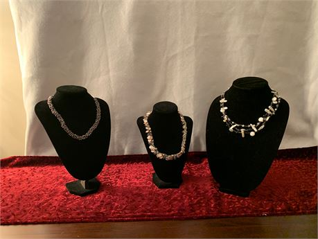 Lot of 3 Artisan Necklaces