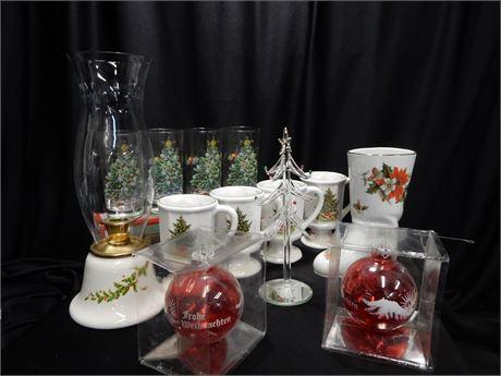 Vintage Christmas Glasses Mugs and More