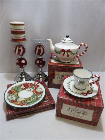 Christmas Tableware Lot