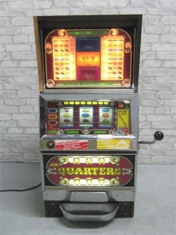 "VINTAGE BALLY ""QUARTERS"" ONE ARMED BANDIT SLOT MACHINE"