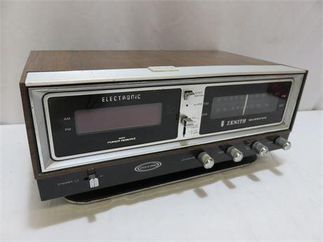 Vintage Mid-Century ZENITH Circle of Sound Clock Radio