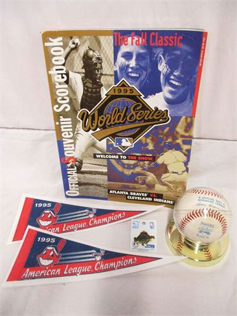 CLEVELAND INDIANS MEMORABILIA - 1994 INAUGURAL SEASON AND 1995 World Series