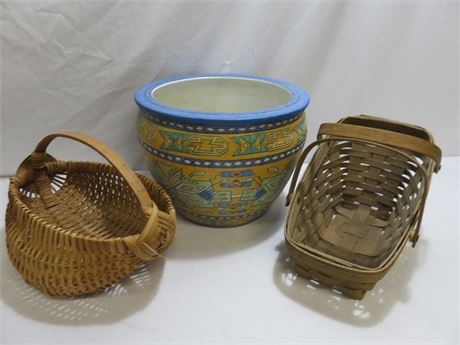 Decorative Ceramic Planter/Basket Lot