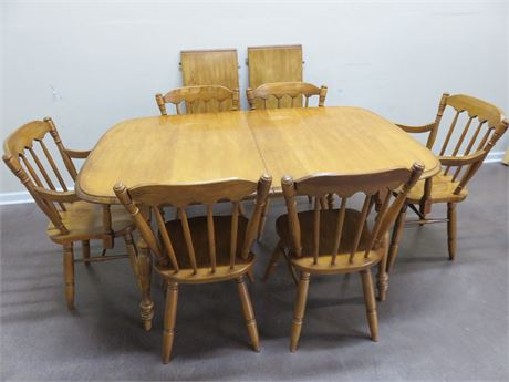 J.B. VAN SCIVER Maple Dining Table Set