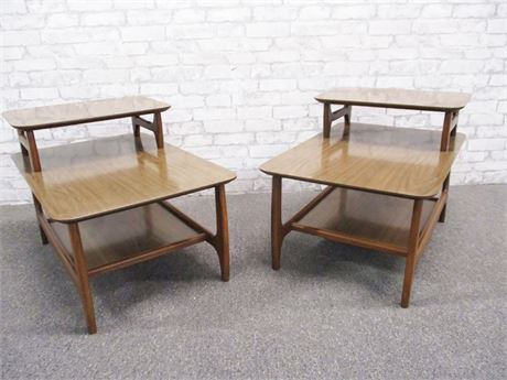 PAIR OF MID-CENTURY MODERN SIDE TABLES BY HORNER MFG.