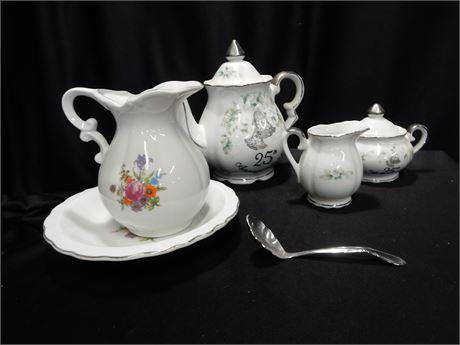 Lefton China 25th Anniversary Tea Set and More