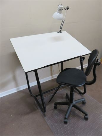 Drafting Table and Chair