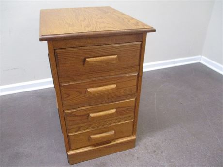 OAK 2-DRAWER FILE CABINET