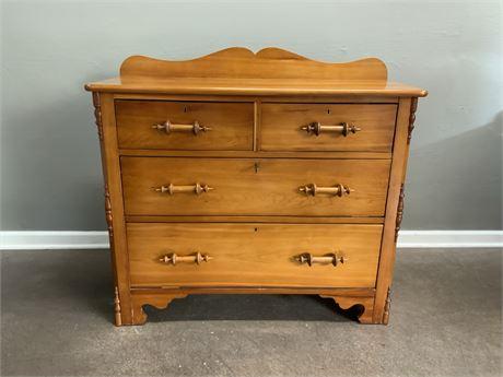 Rustic Pine Wood Dresser