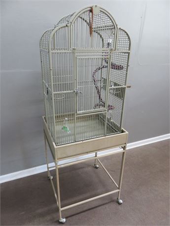 Steel Bird Cage & Cart
