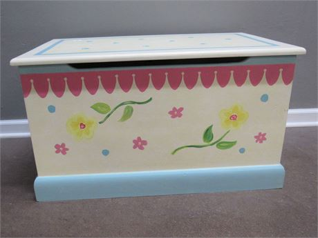 HAND CRAFTED/PAINTED TOY/STORAGE BOX