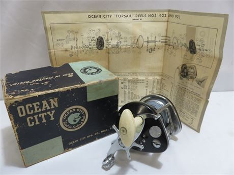 Vintage OCEAN CITY TopSail 923 Fishing Reel
